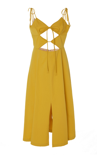 Medium cult gaia yellow car wash cutout dress