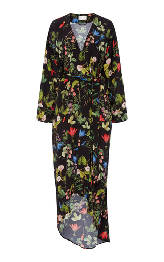 Medium maison du soir black isabella kimono robe