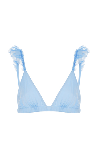 Medium more noir blue silky wings bikini top