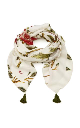 Medium rujuta sheth white tree of life scarf