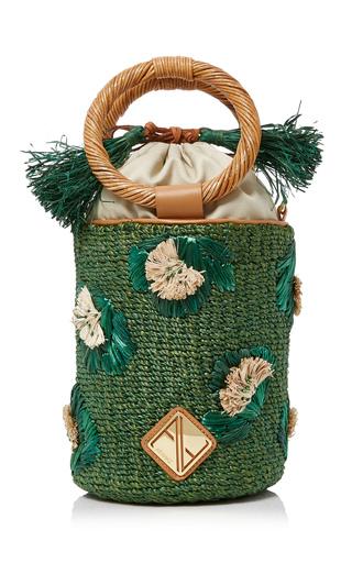 Medium aranaz green bianca mini bucket bag