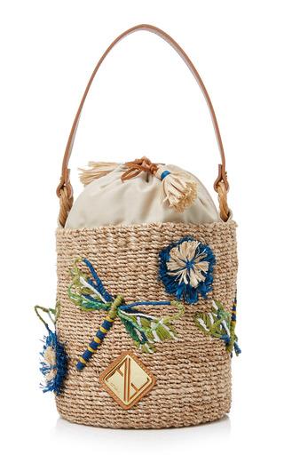 Medium aranaz multi dragonfly mini bucket bag