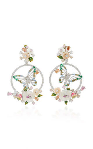 Medium anabela chan silver m o exclusive diamond butterfly wreath earrings