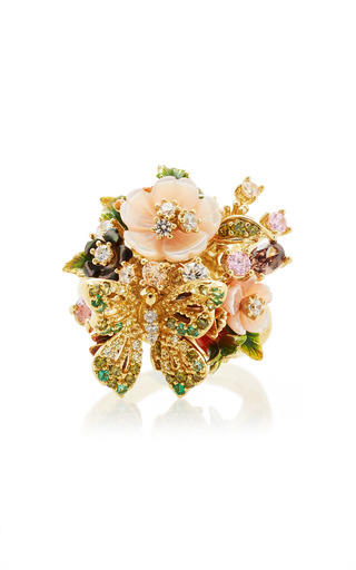 Medium anabela chan multi m o exclusive yellow butterfly bouquet ring