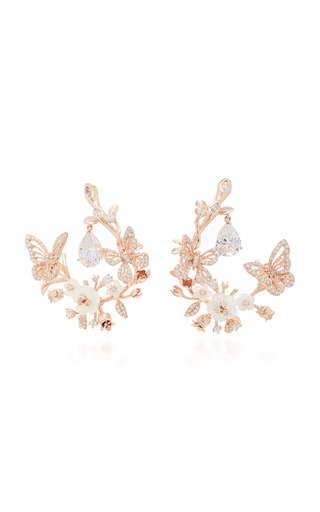 Medium anabela chan pink m o exclusive white butterfly garland earrings