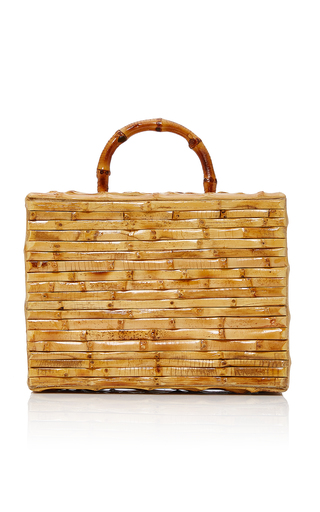 Medium glorinha paranagua neutral sorrento bamboo bag