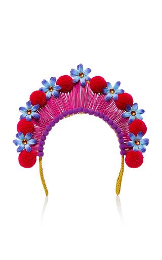 Medium magnetic midnight red pompom crown
