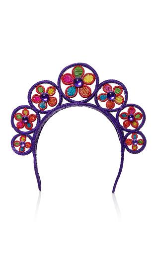 Medium magnetic midnight purple flower power crown