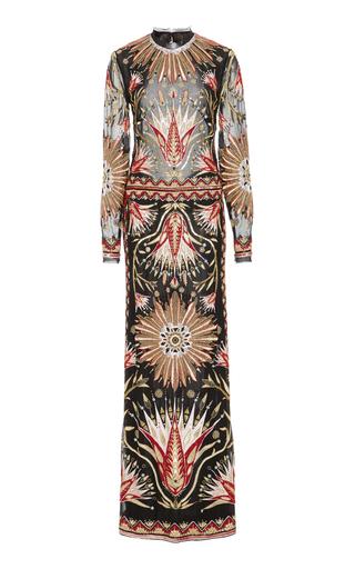 Medium cucculelli shaheen multi raze open back gown