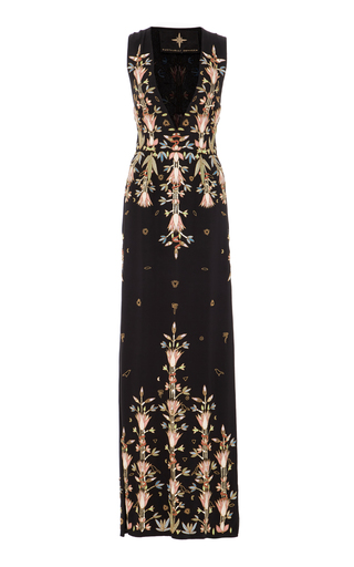 Medium cucculelli shaheen black deco sleeveless gown