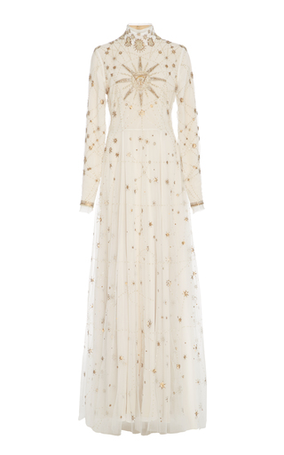 Medium cucculelli shaheen white eye and sun constellations gown