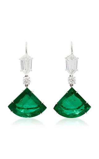 Medium martin katz green kite emerald drop earrings