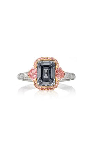Medium martin katz grey fancy dark gray emerald cut diamond ring