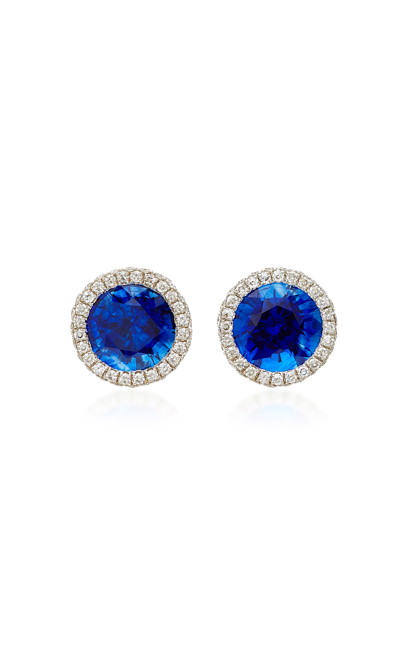 banana earrings sapphire vintage stud gold products top spinel