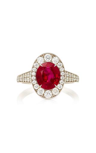 Medium martin katz red oval purplish red ruby ring