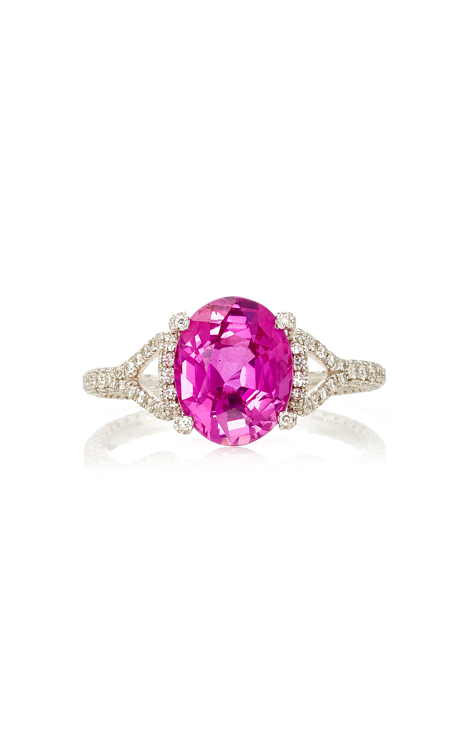 london sapphire gold rose pink diamond eternity in verifine rings product ring