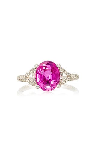 Medium martin katz pink oval pink sapphire ring