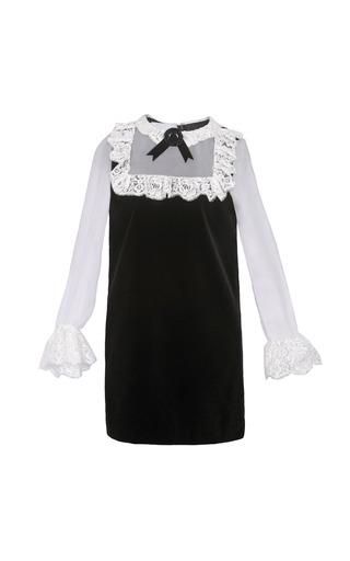 Medium yanina demi couture black white mini pinafore dress
