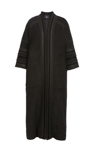 Medium yanina demi couture black oversized wool coat