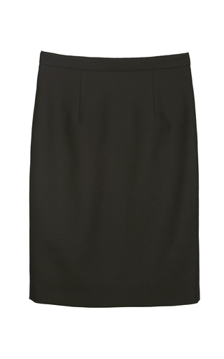 Medium yanina demi couture black wool mini skirt