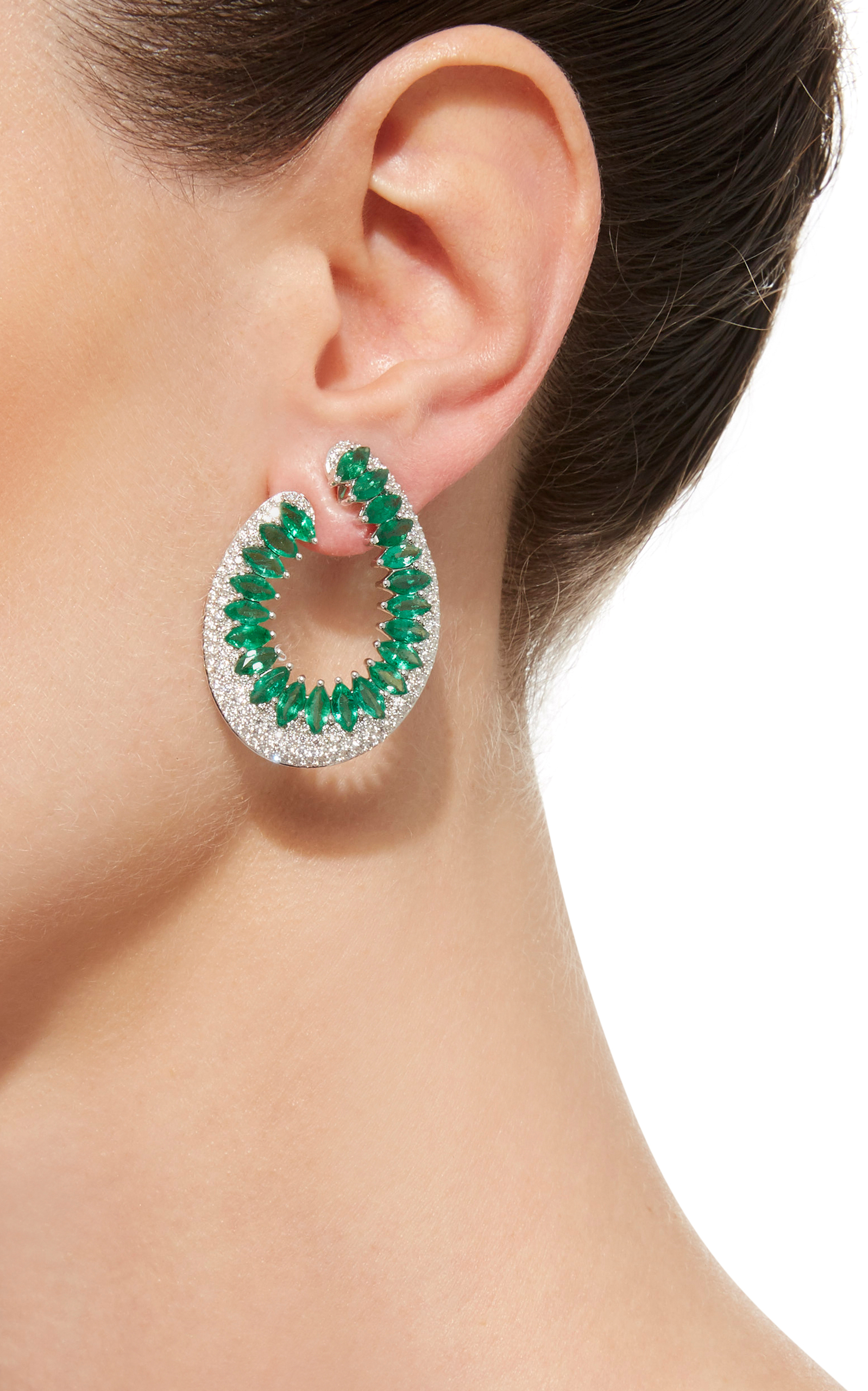 two thiel silver product alex earrings tone jewellery monica designs emerald gold