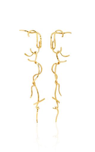 Medium luz camino gold shoestring potatoes earrings