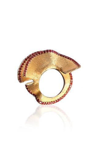 Medium luz camino gold red pencil chip ring 2