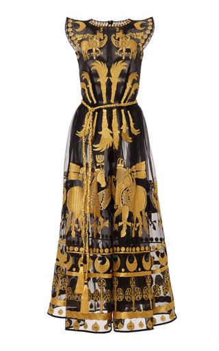 Medium yuliya magdych black day spring horse organza dress