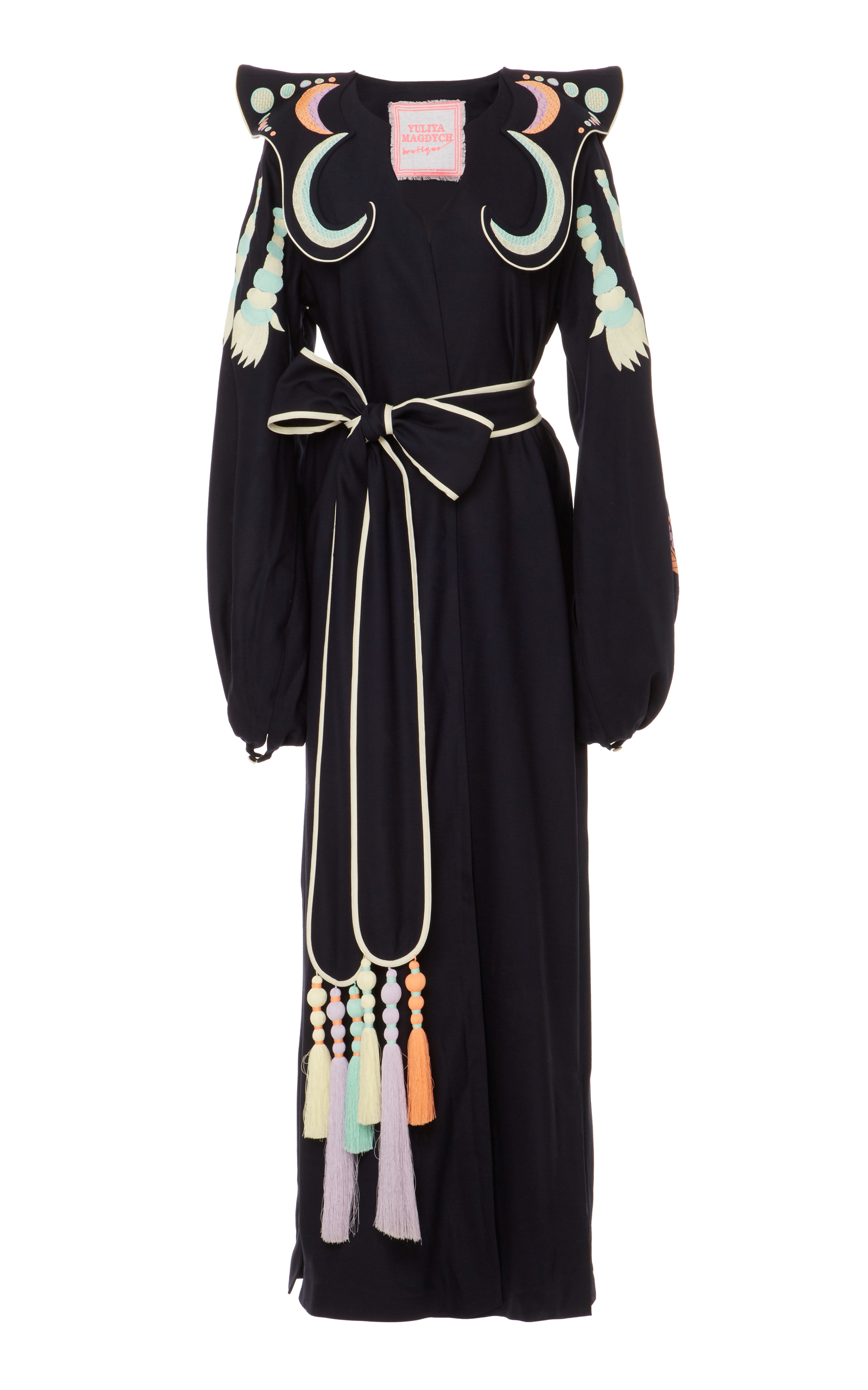 Dayspring Horse embroidered dress - Black Yuliya Magdych