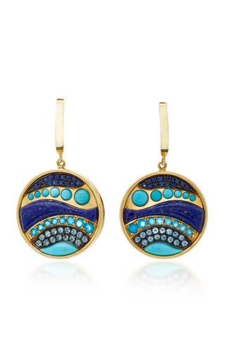 Medium alexia gryllaki blue the wave earrings