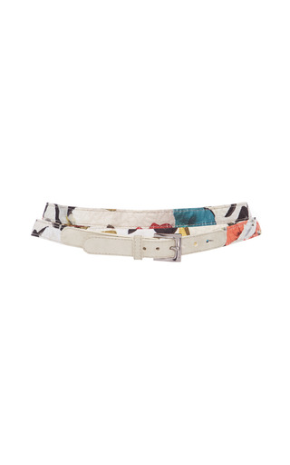 Medium jonathan cohen print orchid collage jacquard wrap belt
