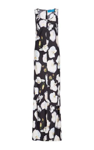 Medium jonathan cohen print abstract orchid maxi dress