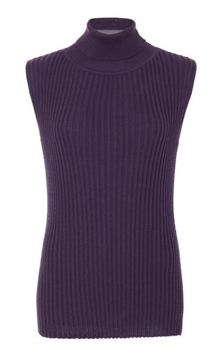 Medium jonathan cohen purple sleeveless sheath top