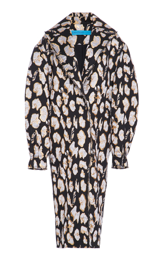 Medium jonathan cohen multi abstract orchid jacquard cocoon coat