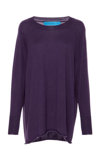 Medium jonathan cohen purple cashmere pullover