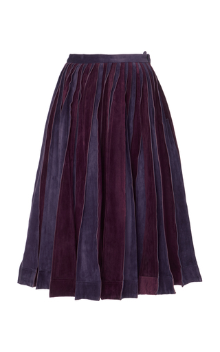 Medium jonathan cohen purple suede slash skirt