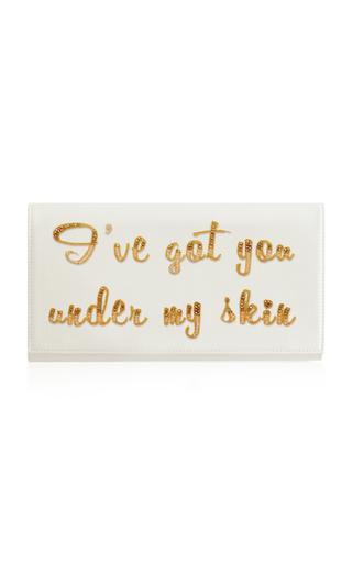 Medium preciously paris white i ve got you under my skin satin clutch