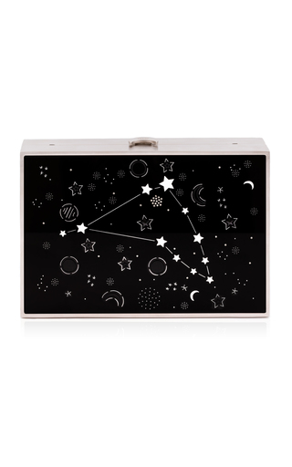 Medium reine silver astro lumina capricorn clutch