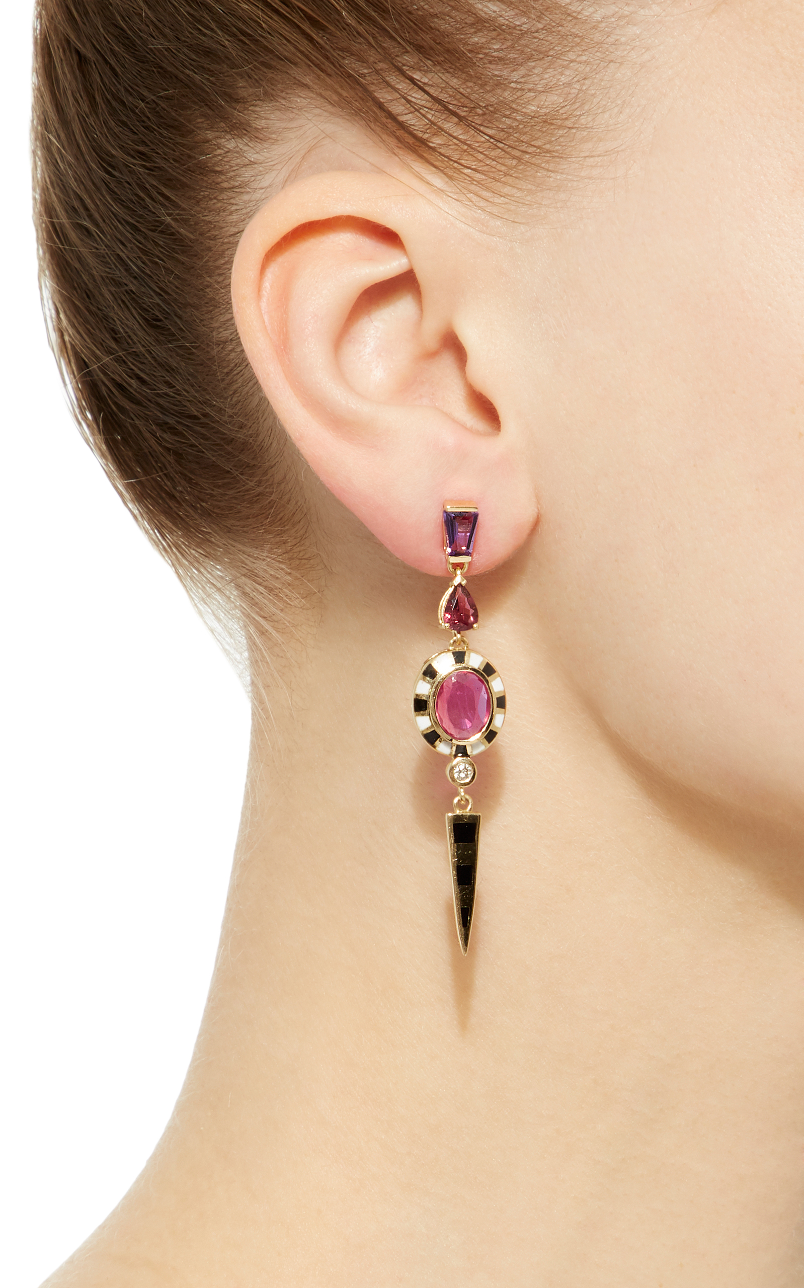 drop in verushka earring gallery metallic lulu jewelry lyst single frost earrings