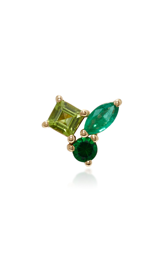 Medium holly dyment green green cluster single earring