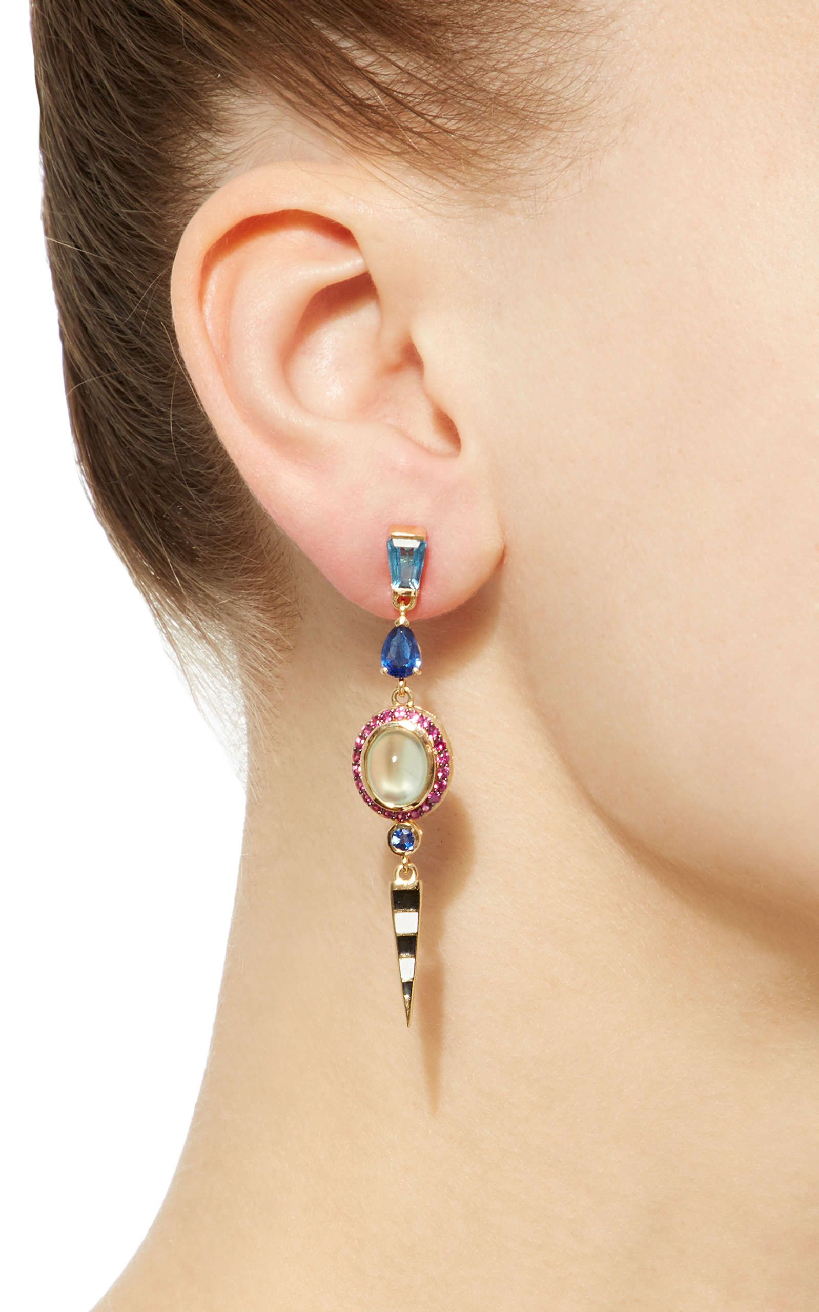 earring earrings open enlarged the single drop jewelry products dior christian