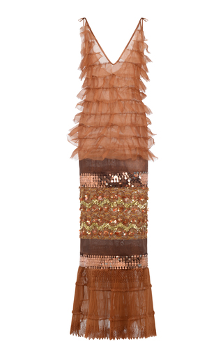 Medium onalaja brown idia dress with metal inserts