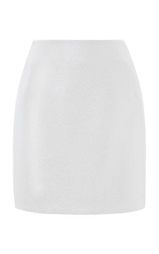 Medium esme vie white camelia mini skirt