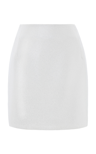 Medium esme vie white camelia mini skirt