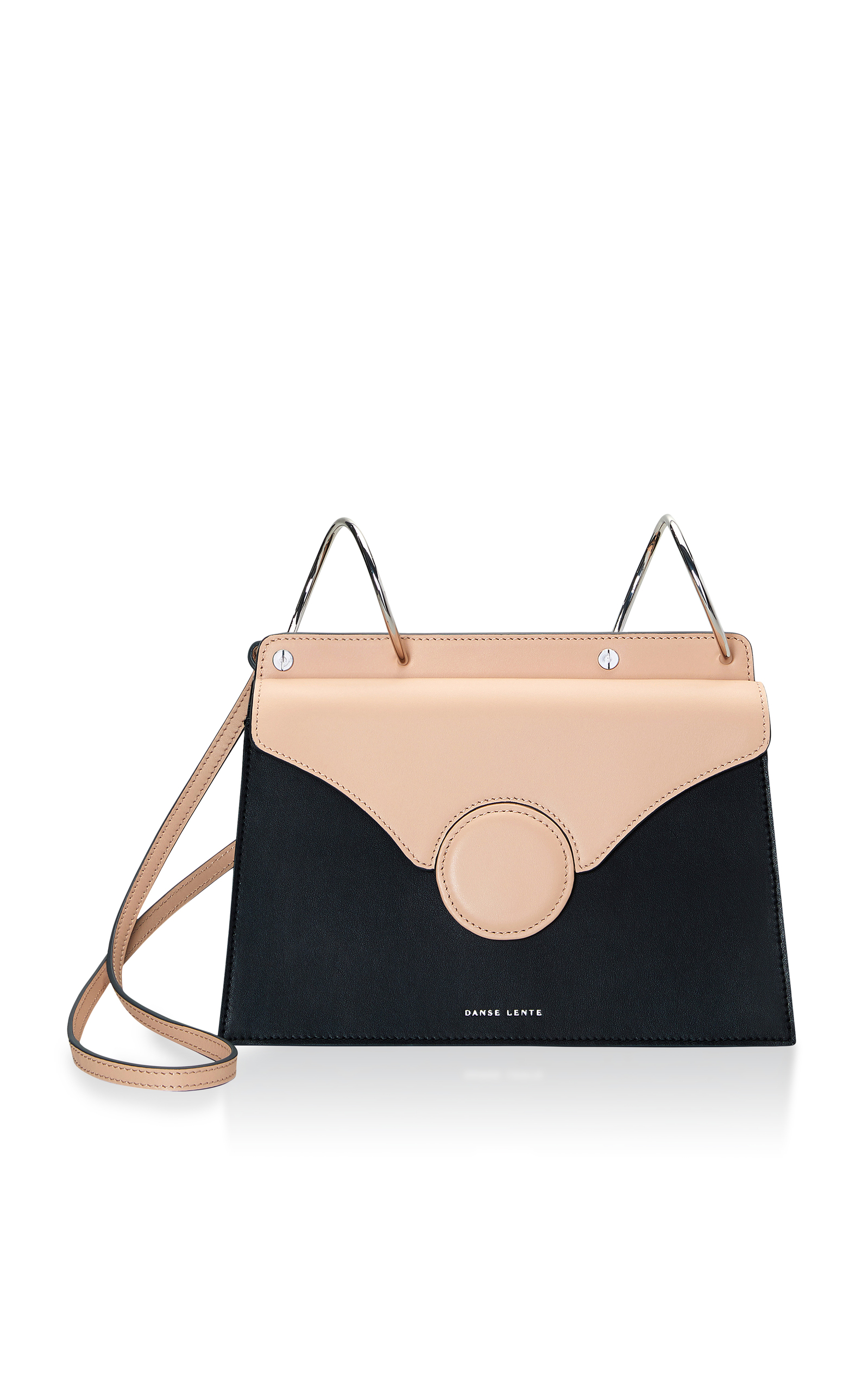 Phoebe Leather Shoulder Bag in Black