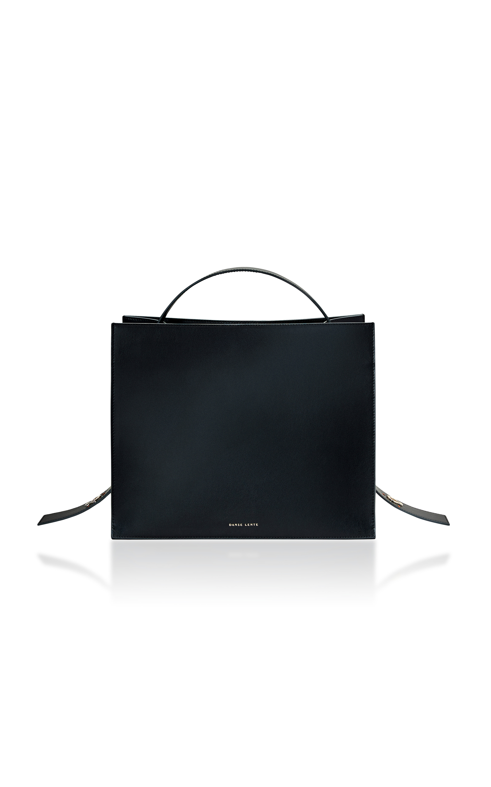 DANSE LENTE Young Leather Tote Bag - Black