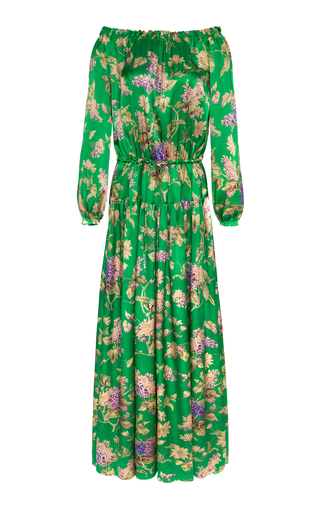 Medium adriana iglesias green creek maxi dress