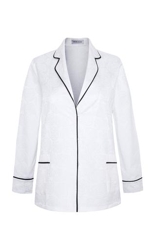 Medium adriana iglesias white jammies roc jacquard jacket