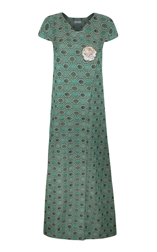 Medium adriana iglesias green audry jacquard dress