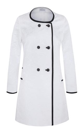 Medium adriana iglesias white cannes jacquard coat